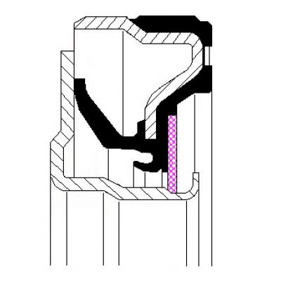 Retentor Dianteiro do Virabrequim do Motor IVECO CURSOR 10 - 11 - 13