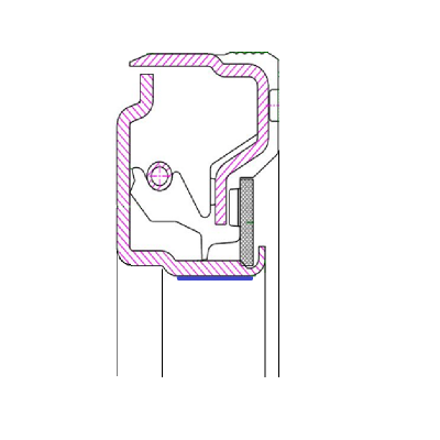 Retentor Dianteiro do Virabrequim do Motor IVECO CURSOR 8 - 9