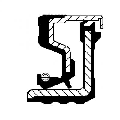 Retentor do Cubo de Roda Dianteiro - IVECO - TECTOR - STRALIS - DAILY