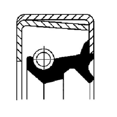 R71400010 Retentor do Cubo de Roda CARRETA - TERCEIRO EIXO - Alta temp